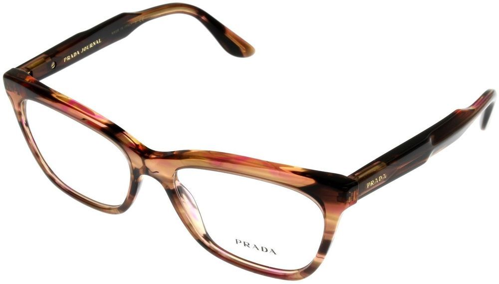 3fa19bc2f1f1 Prada Eyewear Frame Unisex Havana Red PR24SV UE0101 Rectangular ...