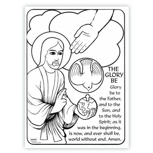 catholic coloring pages hail mary - photo#12