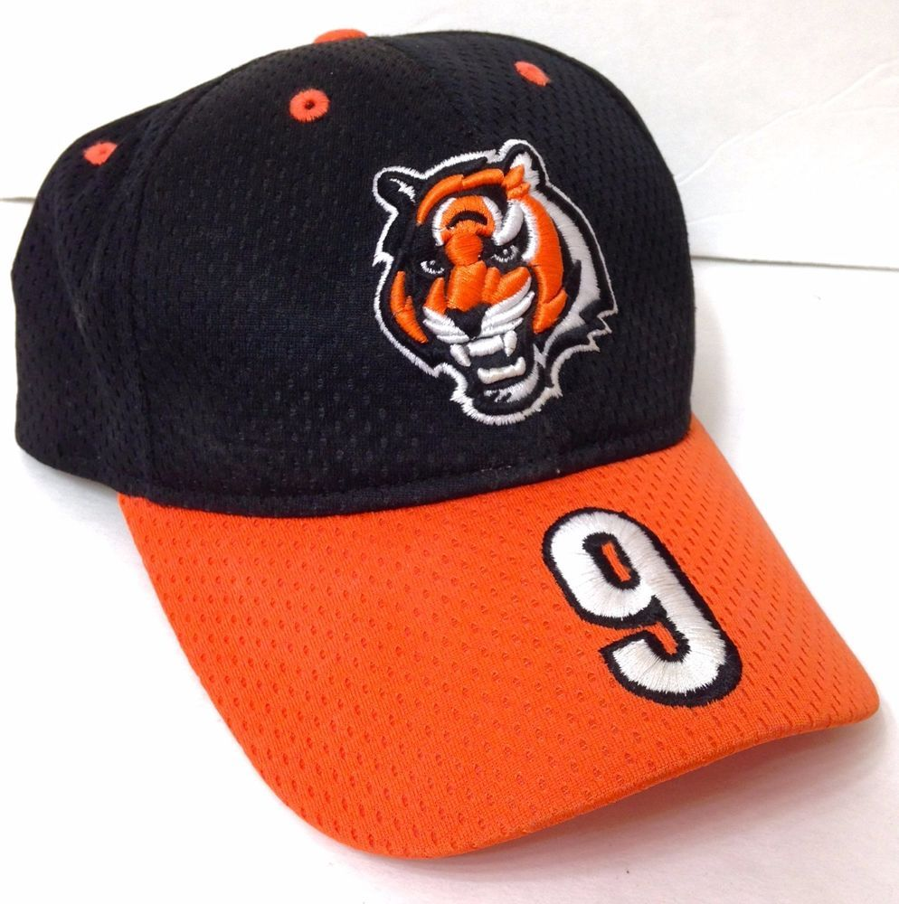 1f393277f87 vtg CARSON PALMER CINCINNATI BENGALS HAT Men Women MESH Black Orange White   9