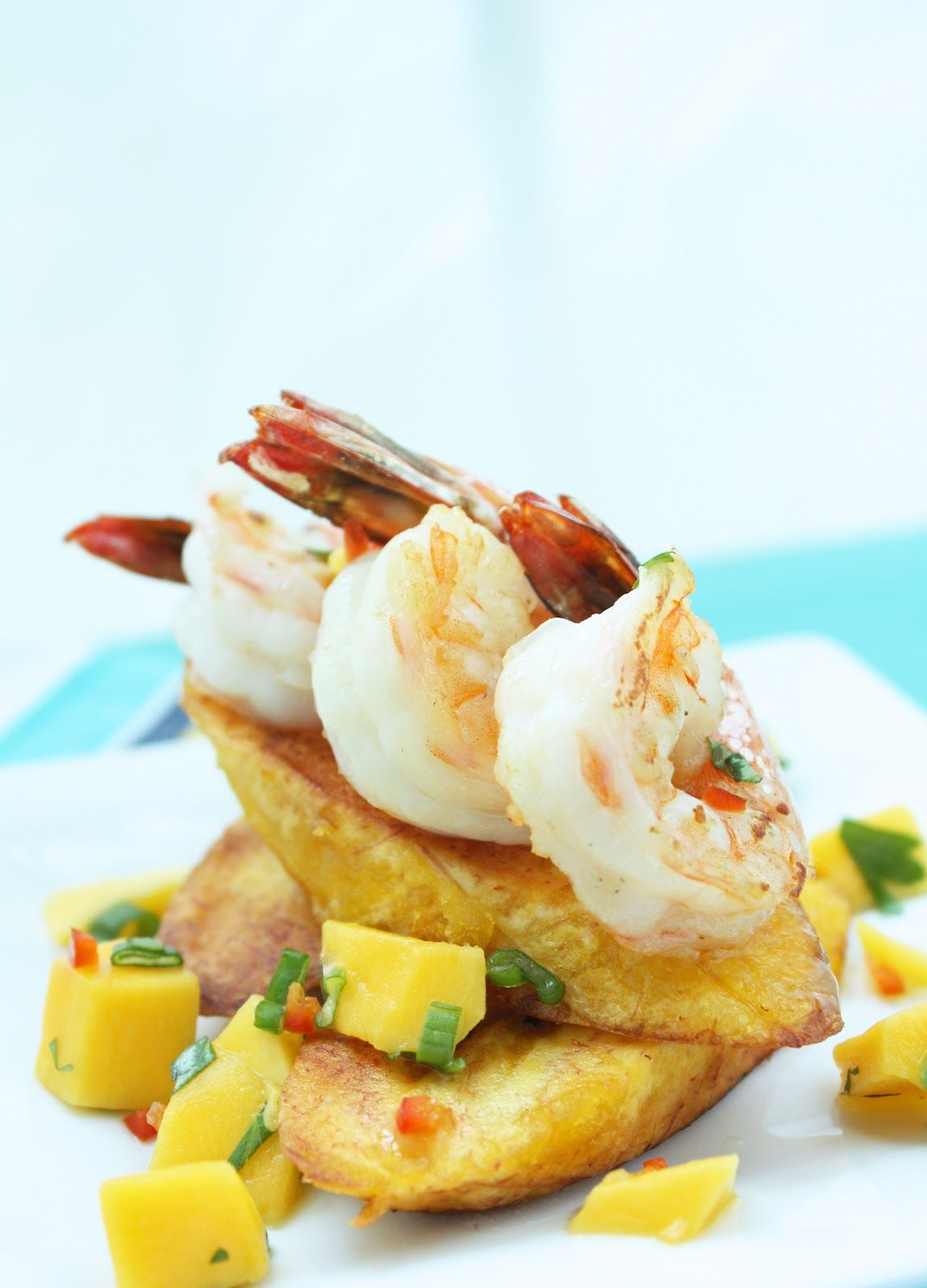 I Breathe... I'm Hungry...: Carribean Shrimp w/ Plantains & Mango Salsa (Paleo)