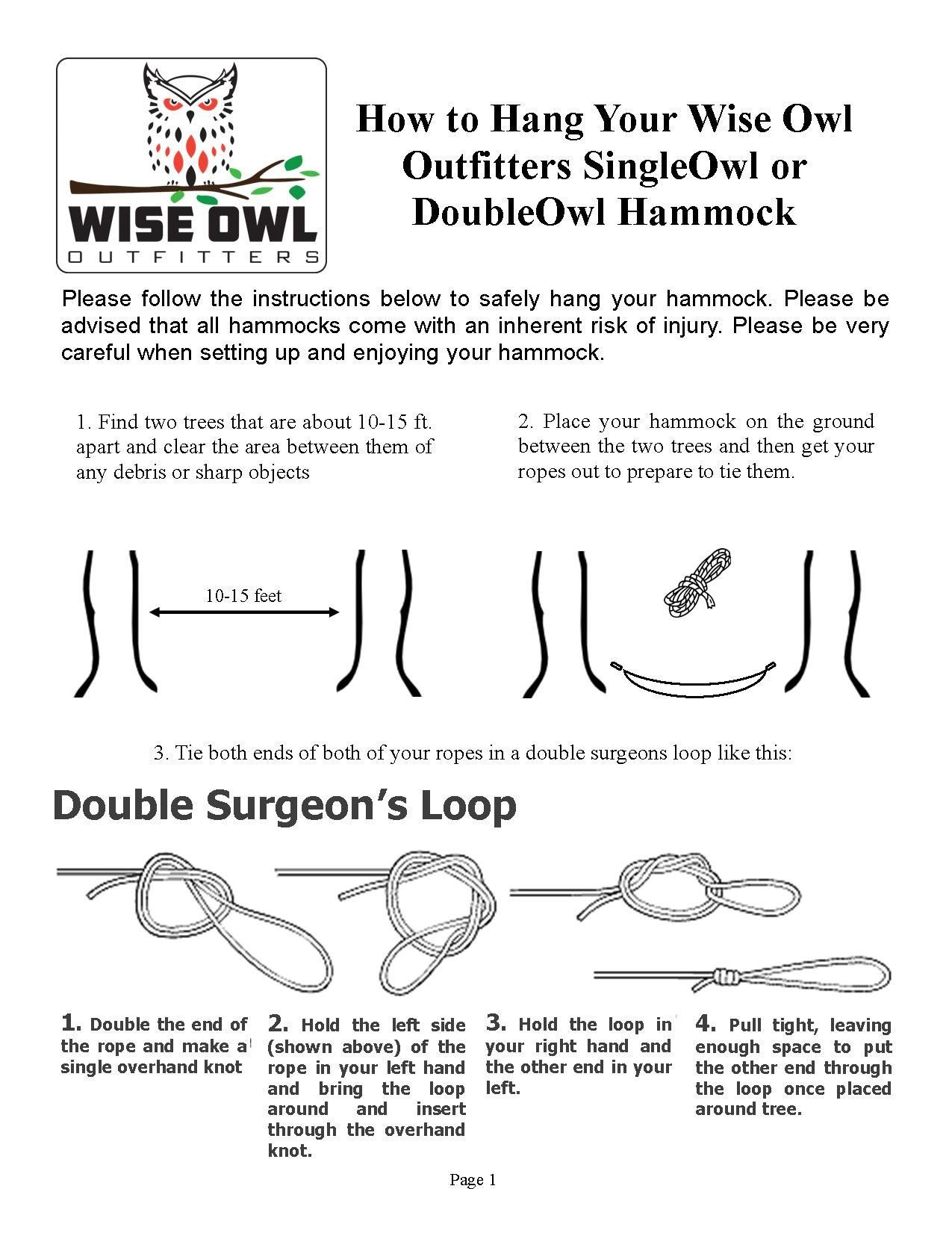 Hammock With Straps Instructions Instruction Hammock Wise Owl
