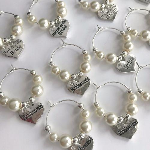 Wedding Wine Glass Charms | Bridesmaids! | Pinterest | Wedding wine ...