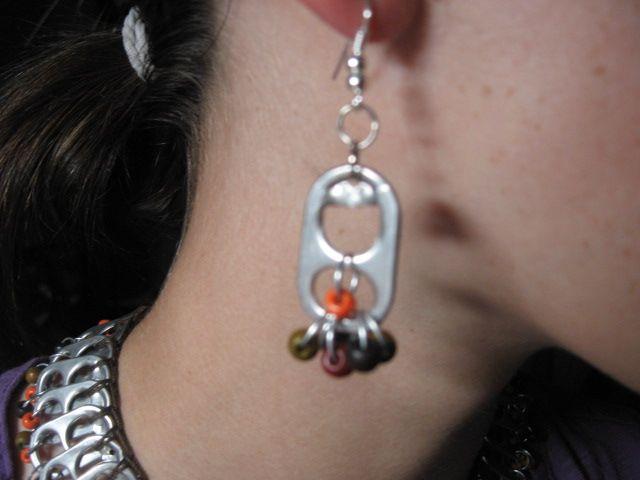 Reycycled pop-top earrings created by Marye Bird passionatlycrafty.blogspot.com