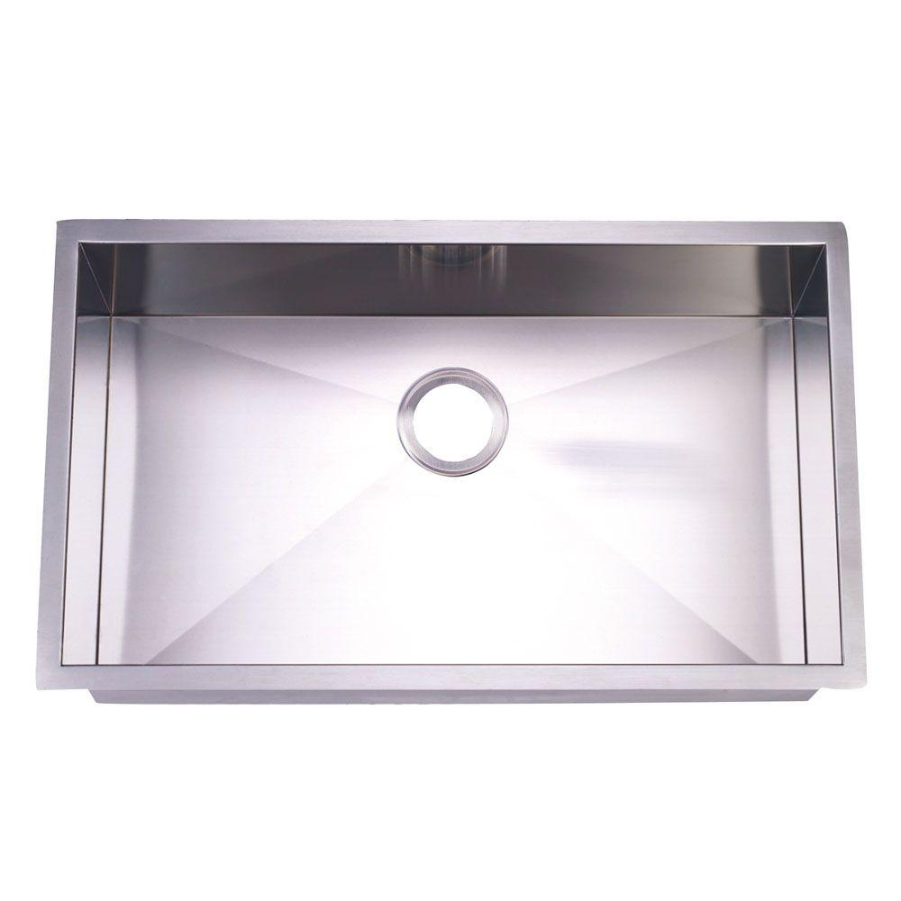 Gourmetier KUS321910BN Undermount Single Bowl Kitchen Sink   Sinks ...