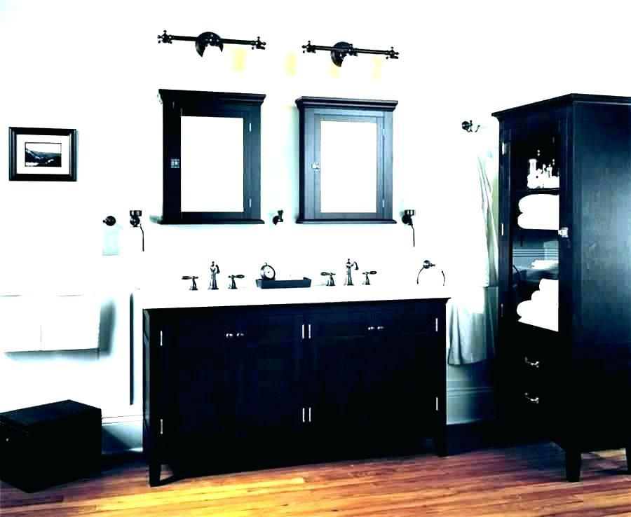 Elegant Black Wooden Bathroom Cabinet Grey Bathroom Vanity Light