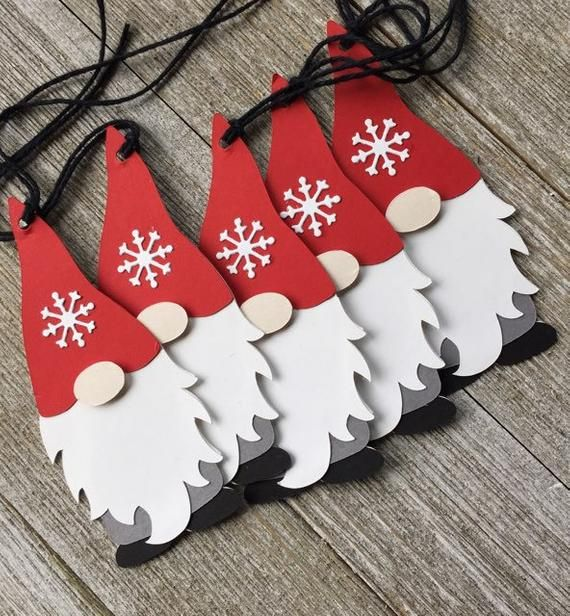 Gnome Gift Tags - Holiday Gnome Tags - Set of 6