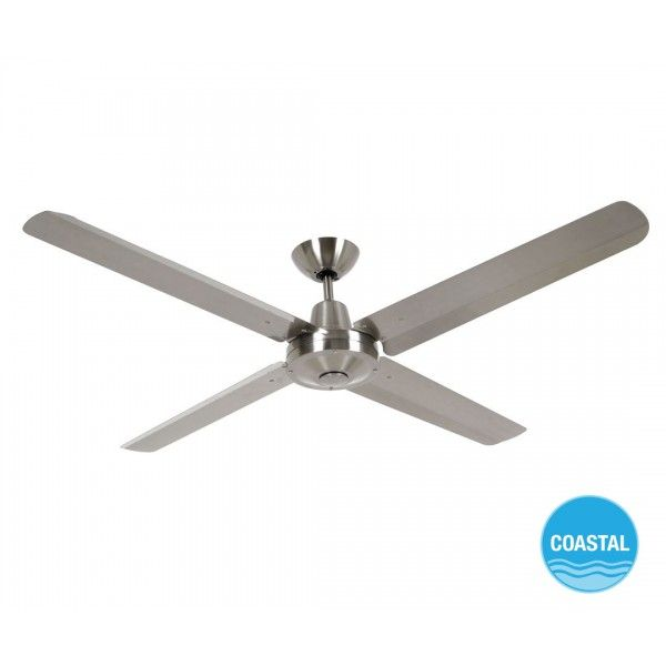 Airfusion Marine 142cm Fan In Marine Grade Stainless Steel Ceiling Fans Fans 359 Ceiling Fan Stainless Steel Ceiling Fan Ceiling Fan With Light