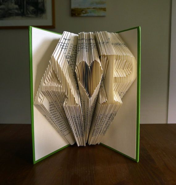 Paper Anniversary Gift Folded Book Art By LucianaFrigerio