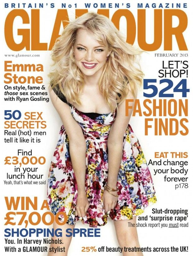 awesome GLAMOUR UK | Capa e Editorial Fevereiro 2013 | Emma Stone por Matthias vriens-Mcgrath
