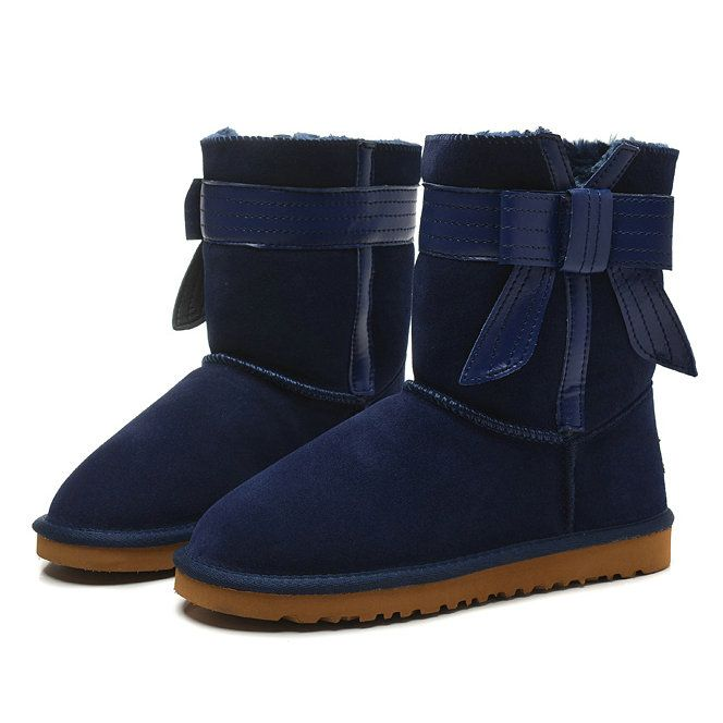 UGG Womens Navy Boots 1003174 Short Josette | Cheap UGG Classic Womens | Pinterest | Navy, Shorts and Uggs