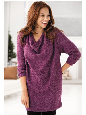 Waterfall Neck Chenille Sweater Plus Glamour Pinterest Glamour