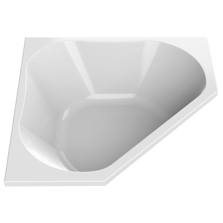 Baignoire D Angle L 140x L 140 Cm Blanc Sensea Premium Design En
