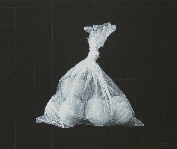 RÓMULO CELDRÁN (Gran Canaria, 1973)   Lápiz blanco y acrílico sobre tabla  30,5 x 36 cm  2008.
