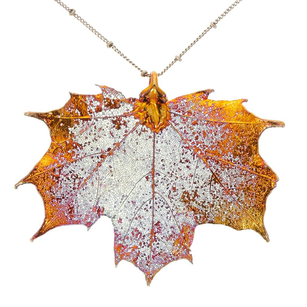 leaf necklaces collections maple necklace birch img jewellery oak acorn