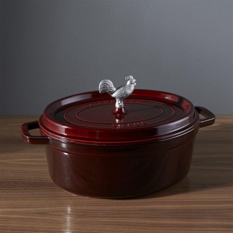 staub 575qt grenadine coq au vin cocotte - Staub Dutch Oven