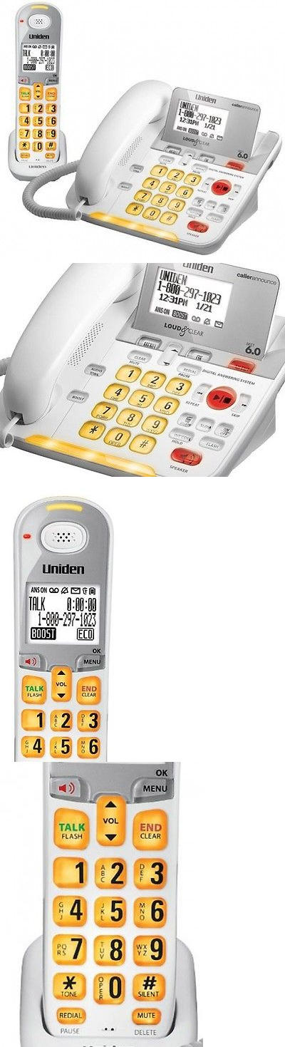 Corded Cordless Phone Combos: Uniden D3098 Corded - Cordless 1.9Ghz Dect 6.0 Combo Telephone (Amplified) BUY IT NOW ONLY: $112.73