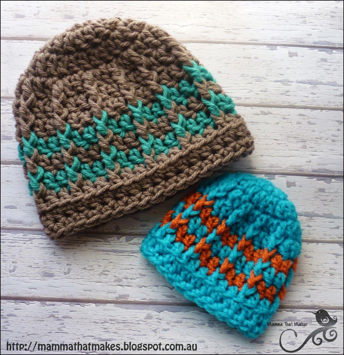 Michael Beanie - Free Crochet Pattern | Gehäkelte mützen, Mütze und ...