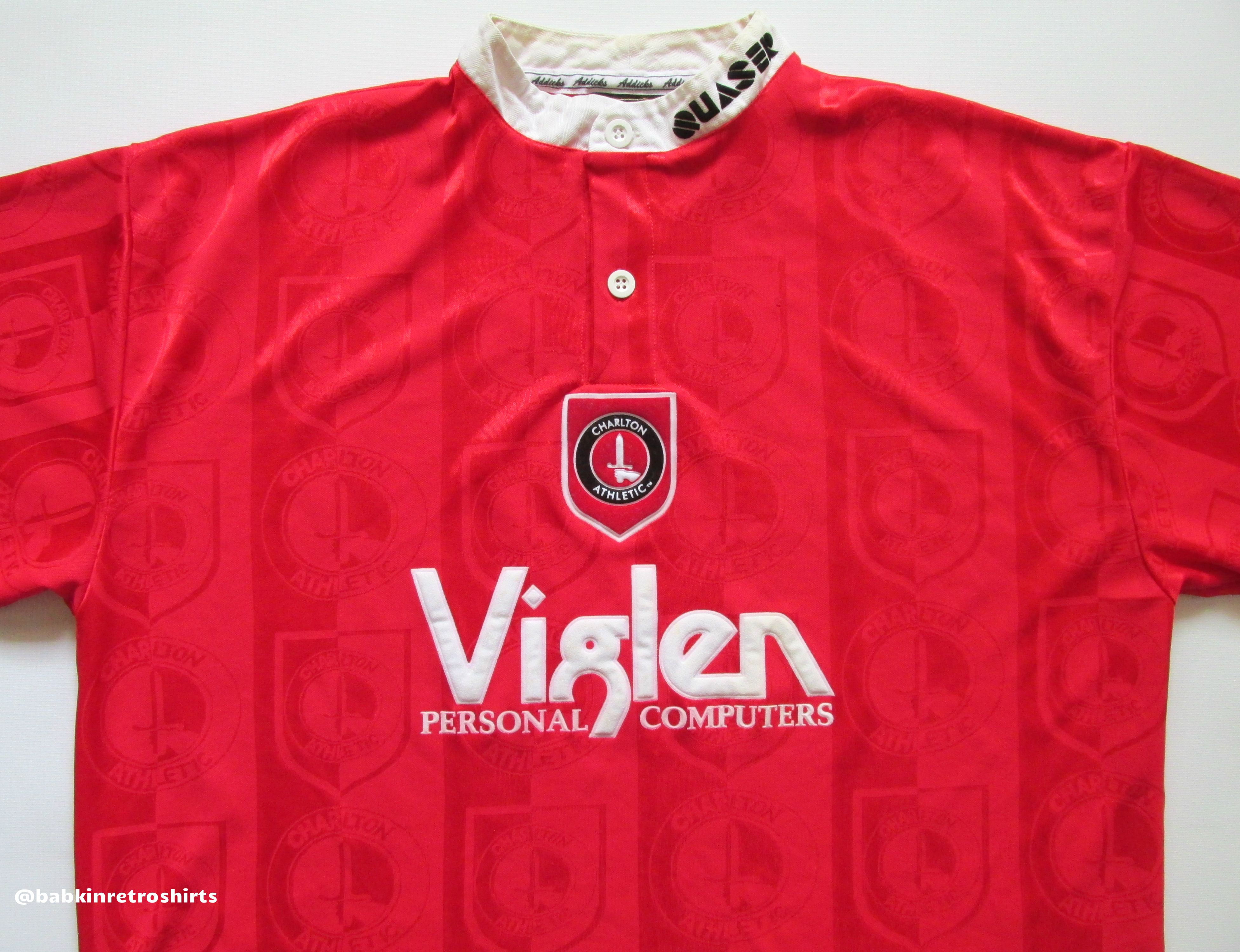 610a039b5 Charlton Athletic 1996/1997/1998 home football shirt by Quaser vintage 90s  soccer retro jersey UK #vintage #vintagestyle #soccer #football #jersey # shirts # ...
