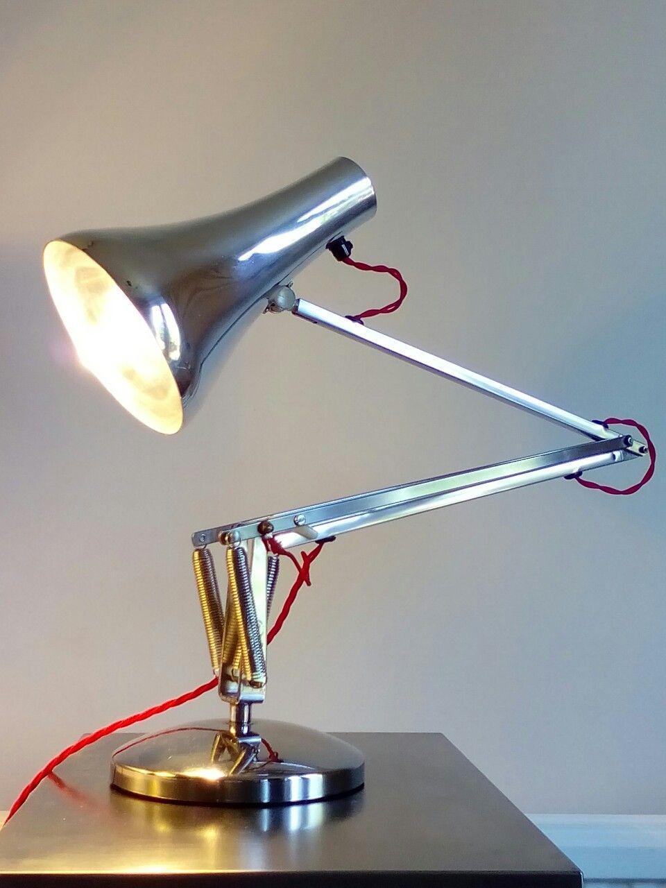 Vintage herbert terry model 90 desk lamp refurbished rewired and vintage herbert terry model 90 desk lamp refurbished rewired and polished by mike bainbridge greentooth Gallery