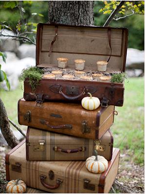 maletas vintage para decorar tu boda rosa clar