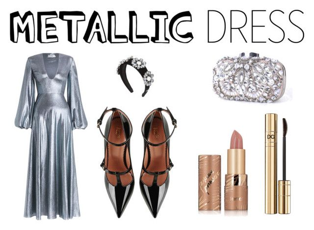"""""""metallic dress"""" by mia1995fashionlover on Polyvore featuring Zimmermann, RED Valentino, Dolce&Gabbana and tarte"""
