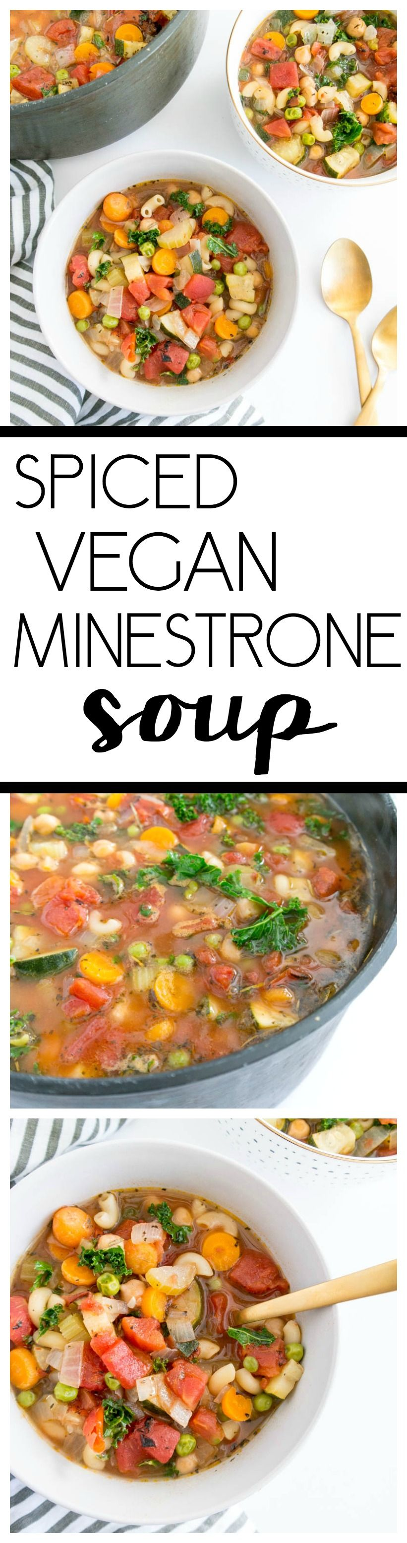 Spiced Vegan Minestrone Soup Brothy herby and packed with bright flavor This warming  comforting soup feels healing and cozy and comes together quickly