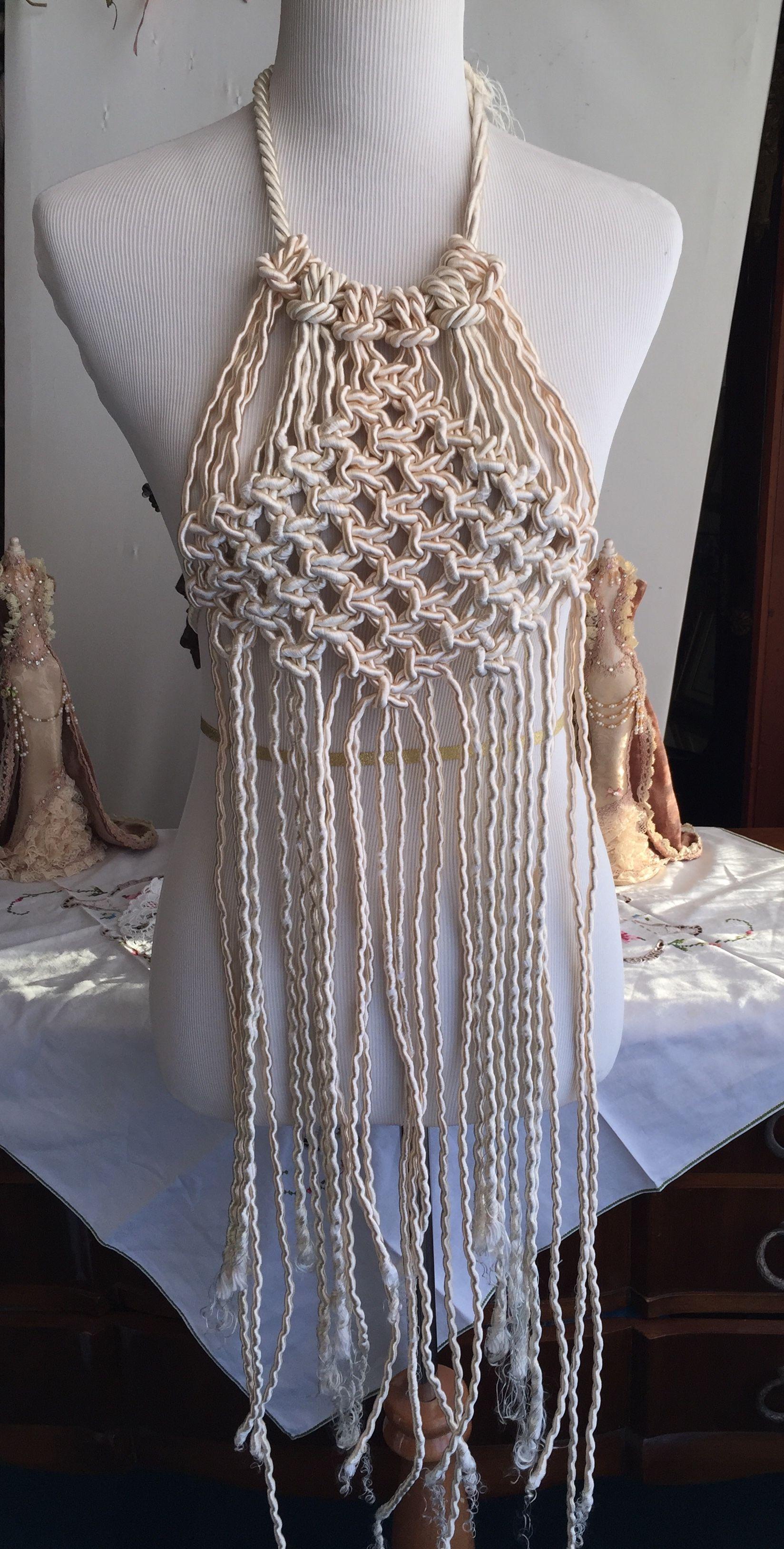 Macrame  top macrame dress