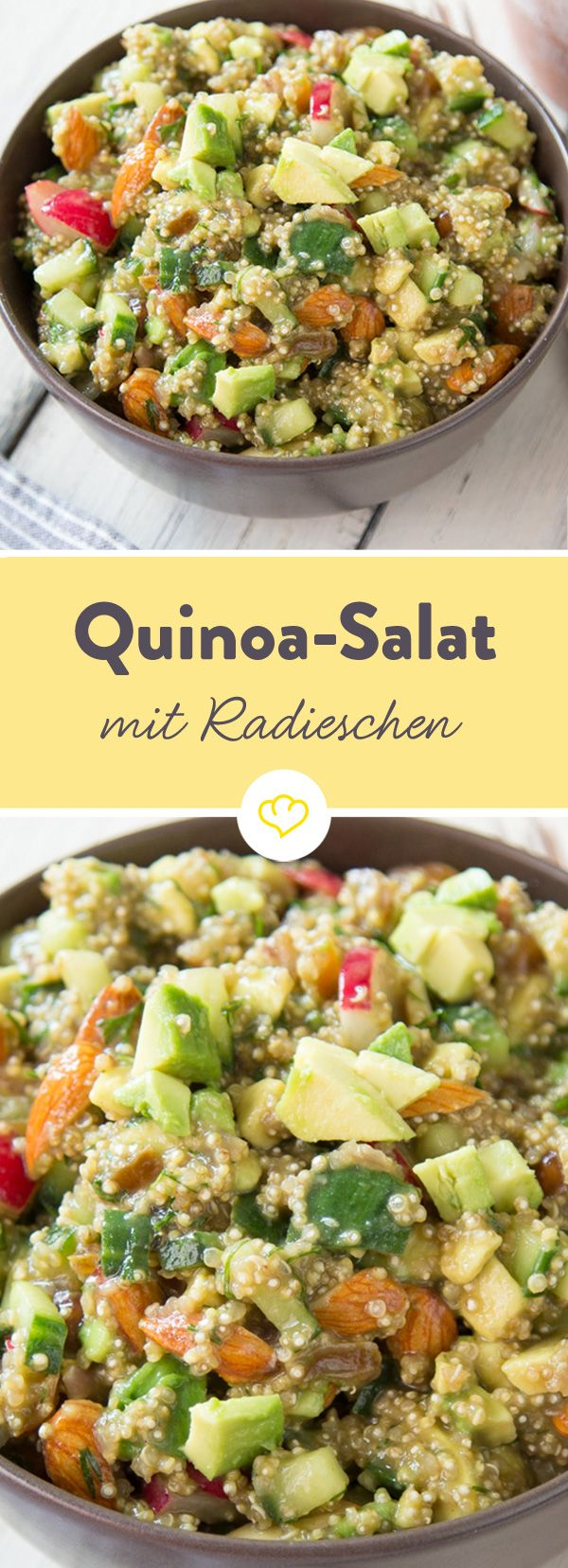 Photo of Quinoa salad with avocado and radishes