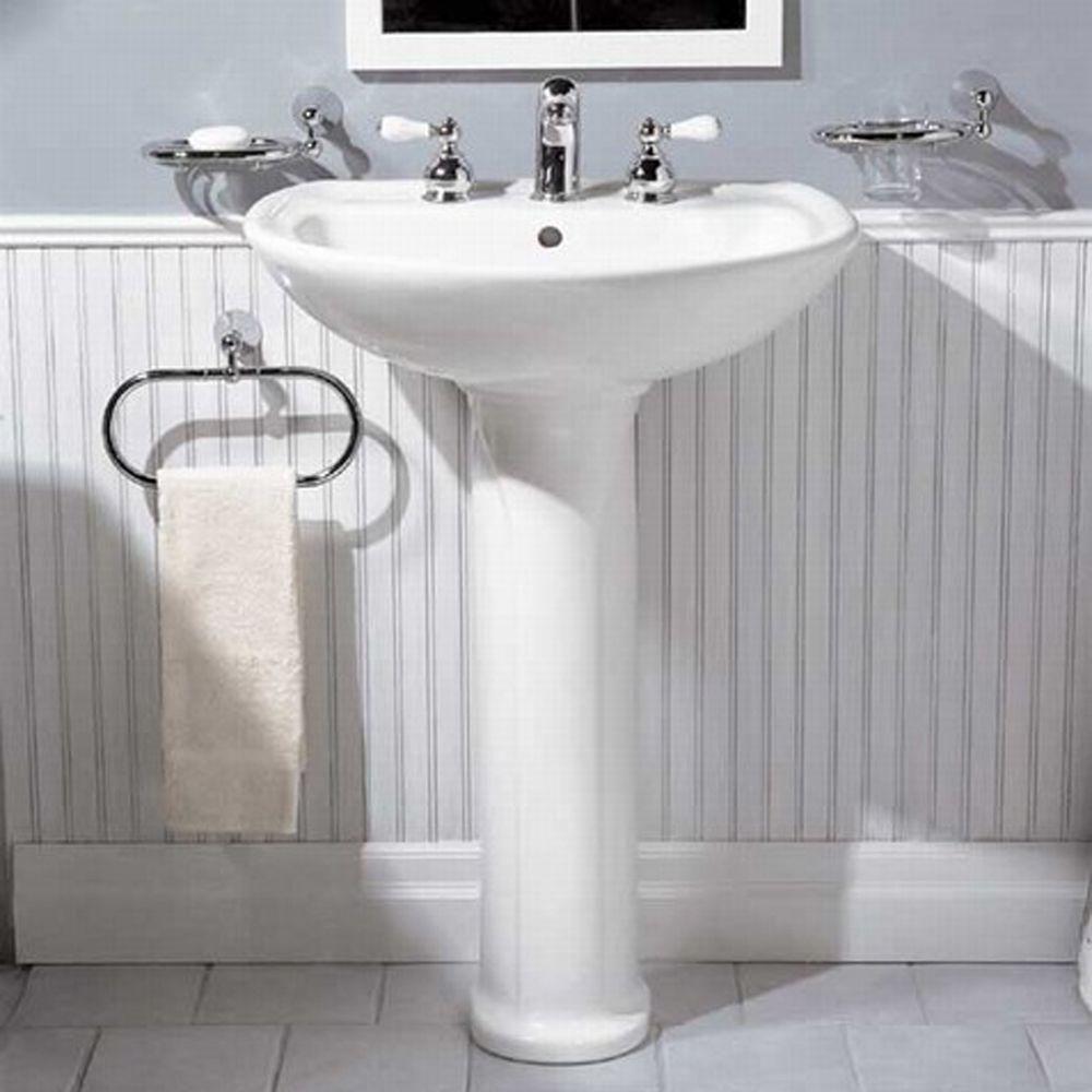 American Standard Cadet Pedestal Combo Bathroom Sink in White ...