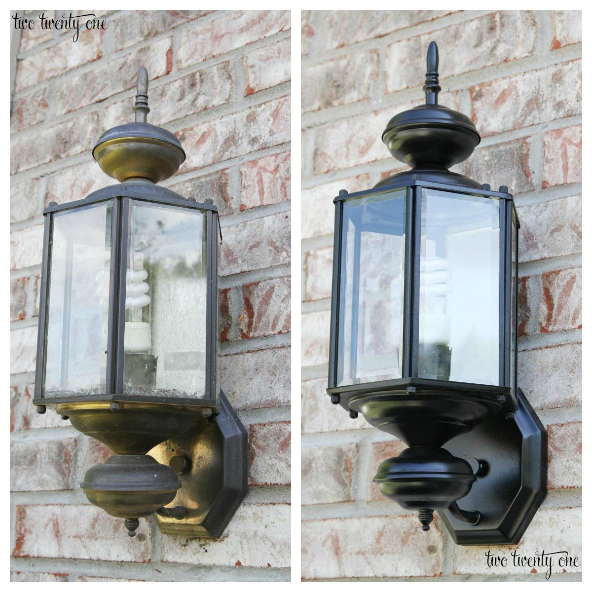 Updated Outdoor Garage Lights  Home Decor  Pinterest  Outdoor