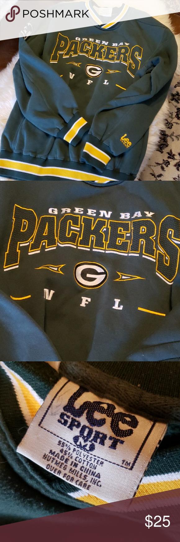 026e6099 Green Bay Packers Sweatshirt Green Bay Packers sweatshirt, Lee Sport ...