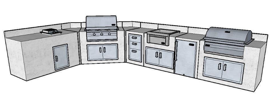 Kingston Series 2 Piece Outdoor Kitchen Storage Package With Images Kitchen Storage Outdoor Kitchen Bbq Tools Storage
