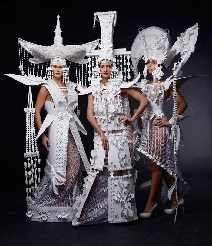 eine kunstvolle idee f r ihr karnevalskost m aus papier leather arts papier kleidung