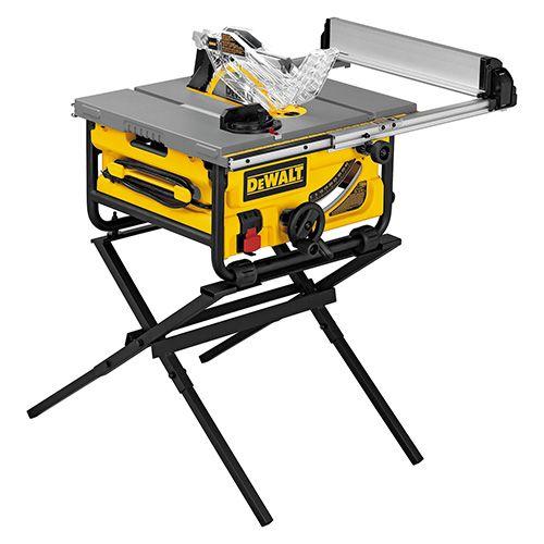 Banc De Scie Compact Et Support Banc De Scie Compact Dewalt Avec Support Moteur De 15 Amperes Systeme Best Table Saw Portable Table Saw Table Saw Workbench