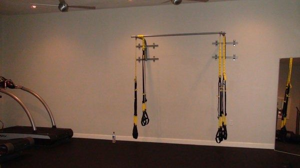 Chair Gym Setup Batman Camping Trx Work It Out In 2019 At Home Basement