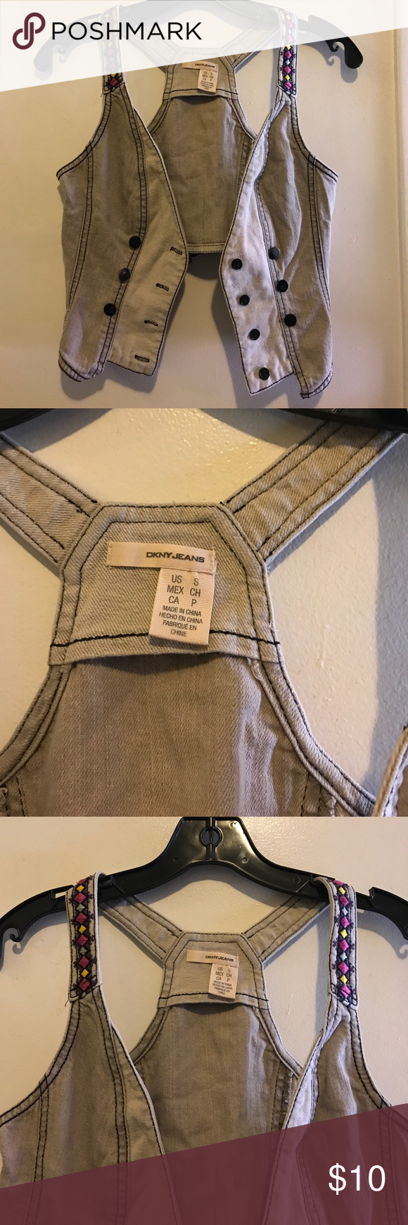 DKNY Jeans Vest I'm selling a pre-owned DKNY Jeans vest in a size small. Dkny Jackets & Coats Vests
