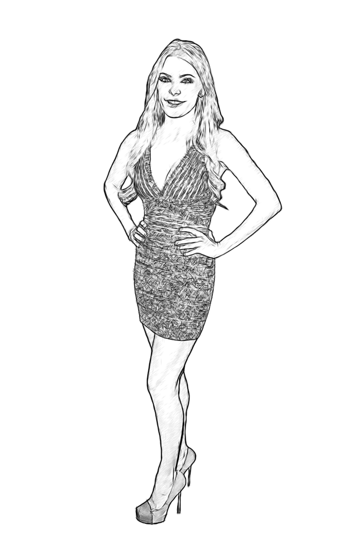crystal harris celebrity coloring page by dan newburn
