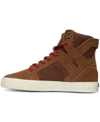 Supra Boys' Skytop Suede High-Top Casual Sneakers from Finish Line - Tan/Beige 3.5