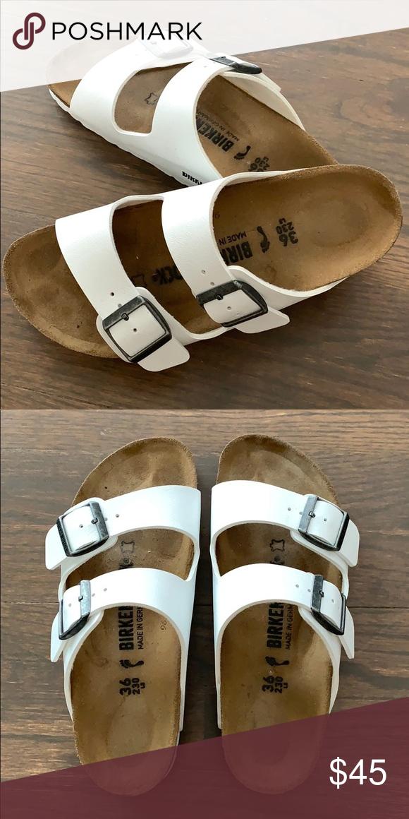 Birkenstock Arizona Sandals : White