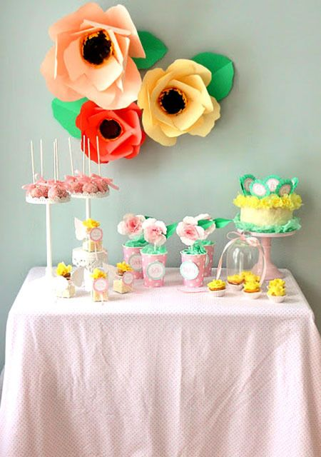 flores de cartulina para decorar fiestas infantiles
