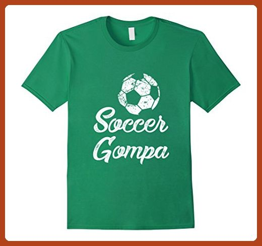 Mens Soccer Gompa Shirt, Cute Funny Player Fan Gift Large Kelly Green - Sports shirts (*Partner-Link)
