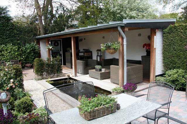 Wonderbaarlijk ondiep tuinhuis | Tuin, Achtertuin huis, Tuin decor RD-57