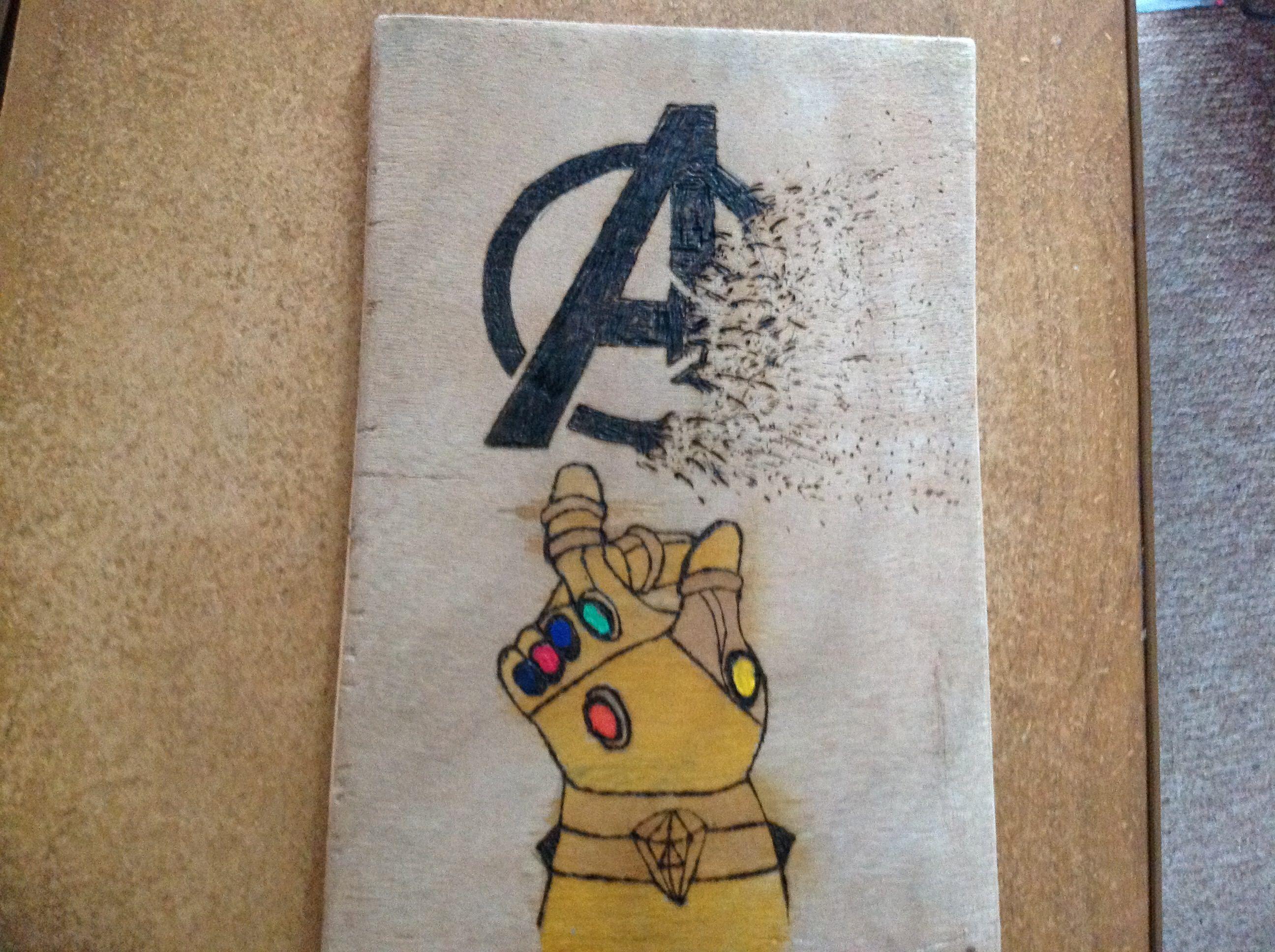 Avengers infinity war pyrography FanArt - View on Imgur