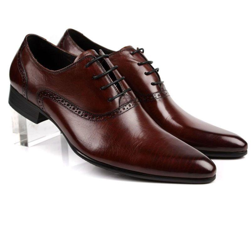 on sale 8a7a0 9ecd5 Neu Leder Herren Schuhe Lederschuhe Business-Schuhe Braun Gr ...