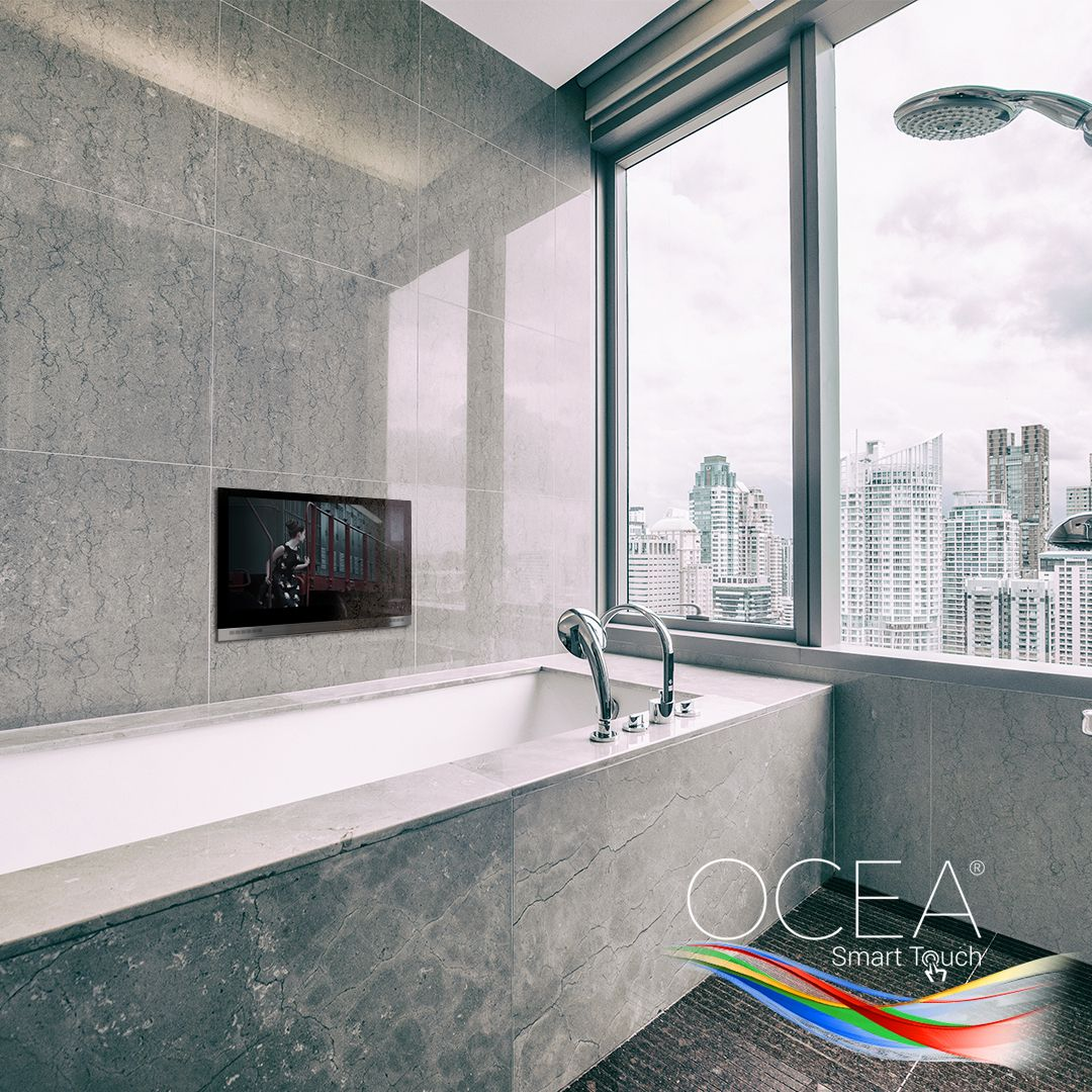 Ocea Waterproof Smart Touch Bathroom Tv Tv In Bathroom Tv In Kitchen Bathroom