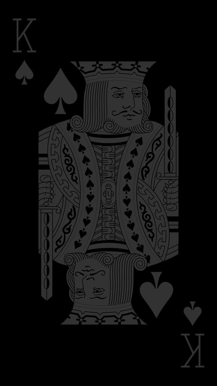 The Kings Card This Is A Wallpaper That Looks Both Ways If You Believe In Tarot Card Reading A Drawing Wallpaper Iphone Wallpaper King Black Wallpaper Iphone