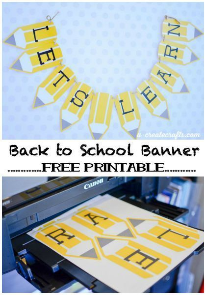 free printable back to school pencil banner banners teacher and