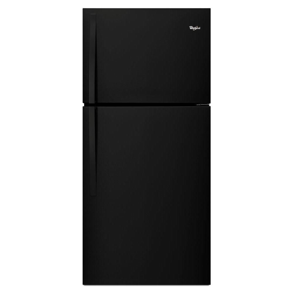 Whirlpool 19 2 Cu Ft Top Freezer Refrigerator In Black Products