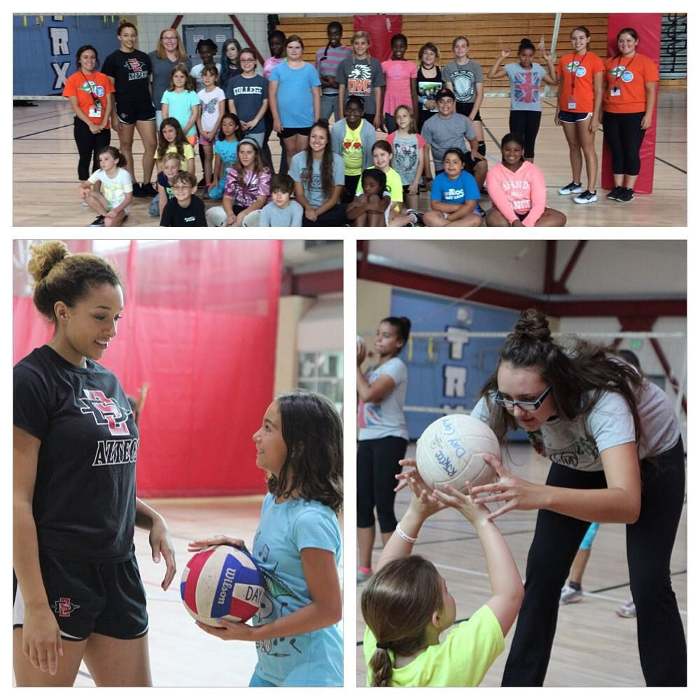 A Big Thank You To Sdsu Volleyball For Spending Some Time With Our Volleyball Campers Today Sports Skills