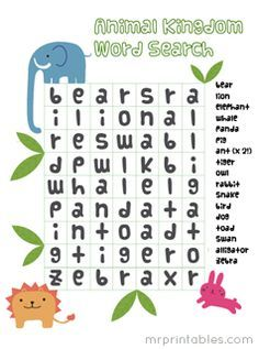 Image Result For Very Easy Word Search